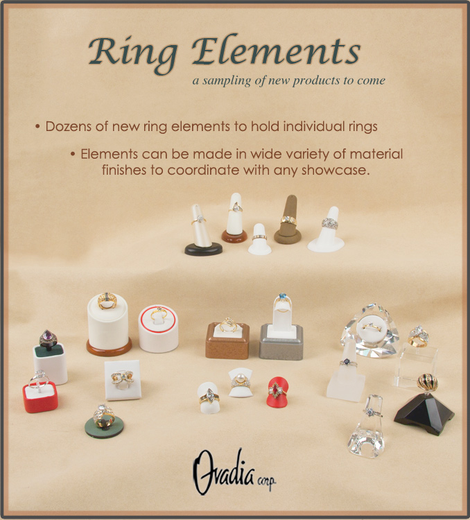 Single ring jewelry display elements