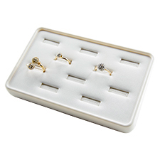 White stackable jewelry tray