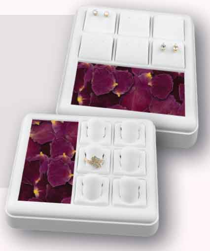 Stackable Jewelry Tray with 6 Pads