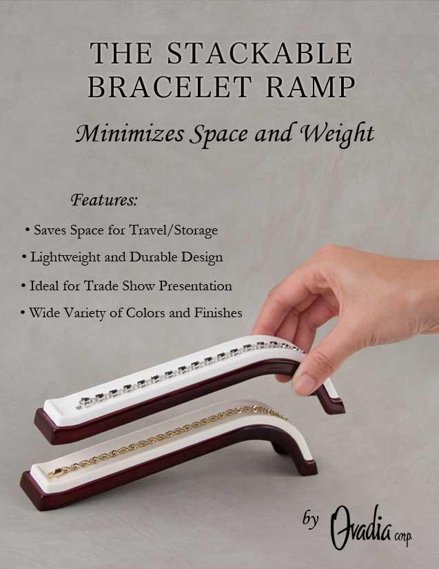 Stackable Bracelet Ramp Display