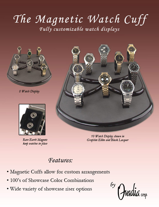 Magnetic Watch cuff display