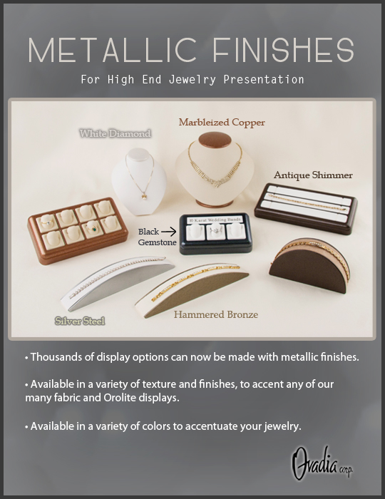 Metallic Jewelry Displays