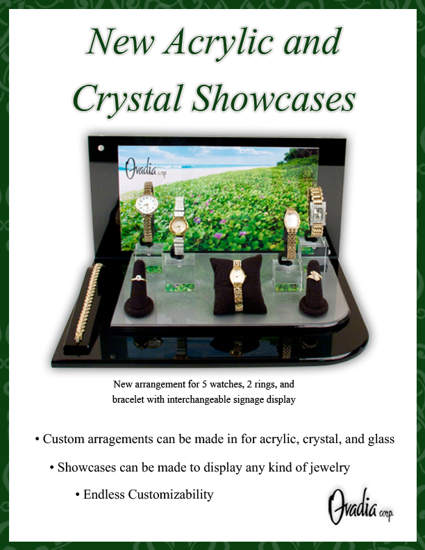 Crystal and Acrylic Showcases