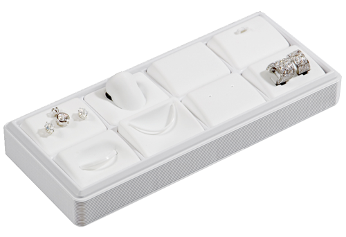 6111 :: Carefree� 1/4 Size: 8 Horizontal Pads Jewelry Tray