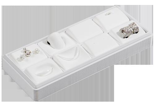 6111 :: Carefree™ 1/4 Size: 8 Horizontal Pads Jewelry Tray