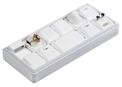 6113 :: Carefree™ 1/4 Size :: 12 Horizontal Pads Jewelry Tray