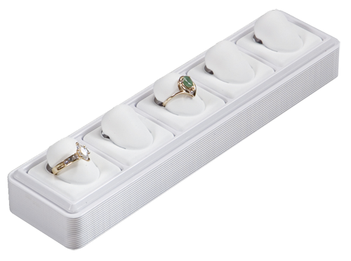 6115 :: Carefree™ 1/8 Size :: 6 Vertical Pads Jewelry Tray