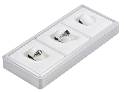 6114 :: Carefree™ 1/4 Size: 3 Vertical Pads Jewelry Tray