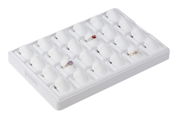 6508 :: Carefree� European Size :: 24 Horizontal Pads Jewelry Tray
