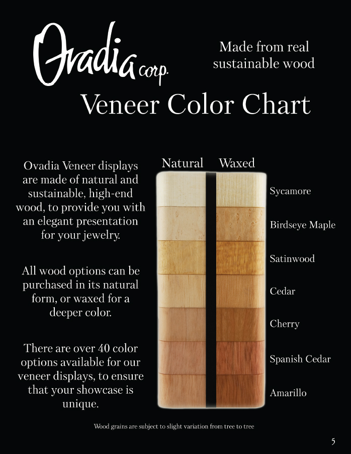 Ovadia's Exotic Hardwood Color Chart Page 1 of 2