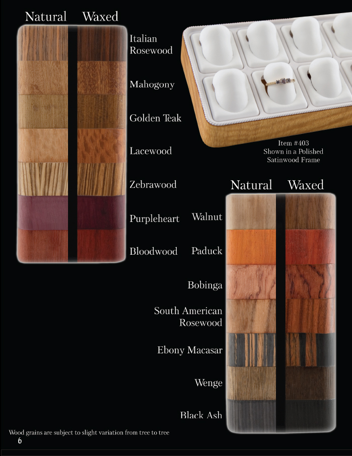 Ovadia's Exotic Hardwood Color Chart Page 2 of 2